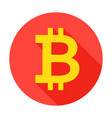 bitcoin circle icon vector image