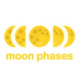 Moon phases design isolated on white background vector image