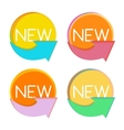 New Product Label Set in Retro Colors vector image