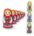 Russian doll matryoshka vector image