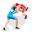 Wrestling Fight 2016 Sports 3D Isometric vector image
