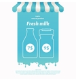 Background for advertising milk vector image