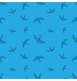 doodle swallow birds seamless pattern vector image