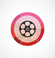 video film circle pink triangle background icon vector image