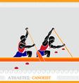 Athlete canoeing vector image