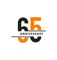 65th celebrating anniversary emblem logo design