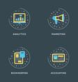 analytics marketing bookkeeping accounting set vector image