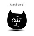 animal world the cat smile background image vector image vector image