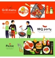 Barbecue Party 3 Horizontal Banners Set vector image vector image
