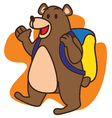 Bear School vector image
