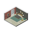 bedroom in isometric view vector image vector image