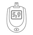 blood glucose level icon outline style vector image