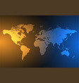 blue and orange global map background with vector image vector image