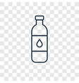 bottle of water concept linear icon isolated on vector image