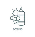 boxing line icon linear concept outline vector image vector image