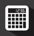 calculator design vector image vector image