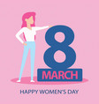card for 8 march women s day abstract background vector image