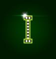 casino and resort letter i luxury letter vector image