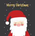 christmas card with cute santa claus isolated vector image vector image