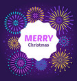 christmas firework poster merry xmas holiday 2019 vector image vector image