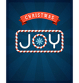 Christmas Joy postcard vector image