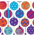 christmas tree balls seamless pattern vector image vector image