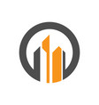 circle building company logo vector image vector image