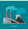 Coal power plant and factory Energy industrial vector image vector image