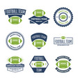 collection of white green and blue vector image vector image