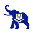 connecticut republican elephant flag vector image vector image