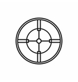 Crosshair reticle icon in outline style vector image vector image