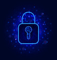 cyber security concept with lock symbol on vector image