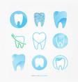 dental care logo set vector image vector image