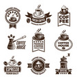 different labels set for coffee house pictures of vector image vector image