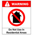 do not use inside home icon vector image vector image