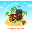 Exotic island and travel accessories vector image