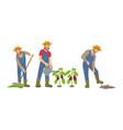 farming man on farm icons set vector image