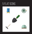 flat icon garden set of hothouse container vector image vector image