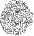 flower mandala - doodle coloring page for adults vector image vector image