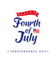 fourth july independence day vintage card vector image vector image