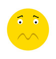 frustrated smiley face icon vector image