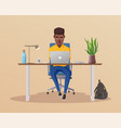 funny business character working vector image vector image