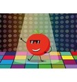 Funny tomato dancing disco vector image vector image