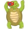 Funny Turtle Tourist - Photographer vector image vector image
