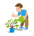 gardener eco volunteer vector image