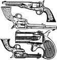 Grunge Pistols Set vector image vector image
