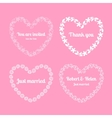 Heart floral frames vector image vector image