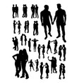 homosexual couple detail silhouette vector image
