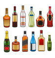 icons of alcohol drinks bottles vector image vector image