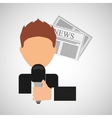 innterviewed news microphone paper design vector image vector image